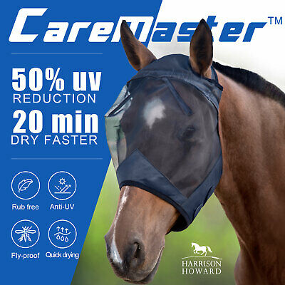 Harrison Howard CareMaster Pro Luminous Standard Fly Mask Anti-UV Free PP