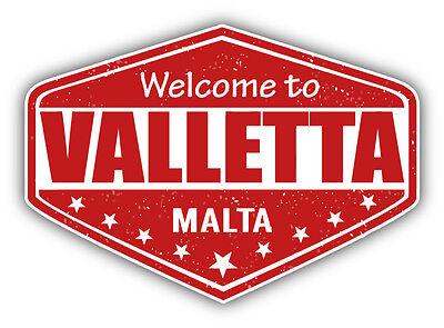 Sticker decal souvenir car coat of arms shield city flag valletta malta