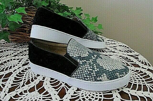 VIONIC  129 Suede Leather Midi Slip-On Snake Print Turnchaussures chaussures Taille 6
