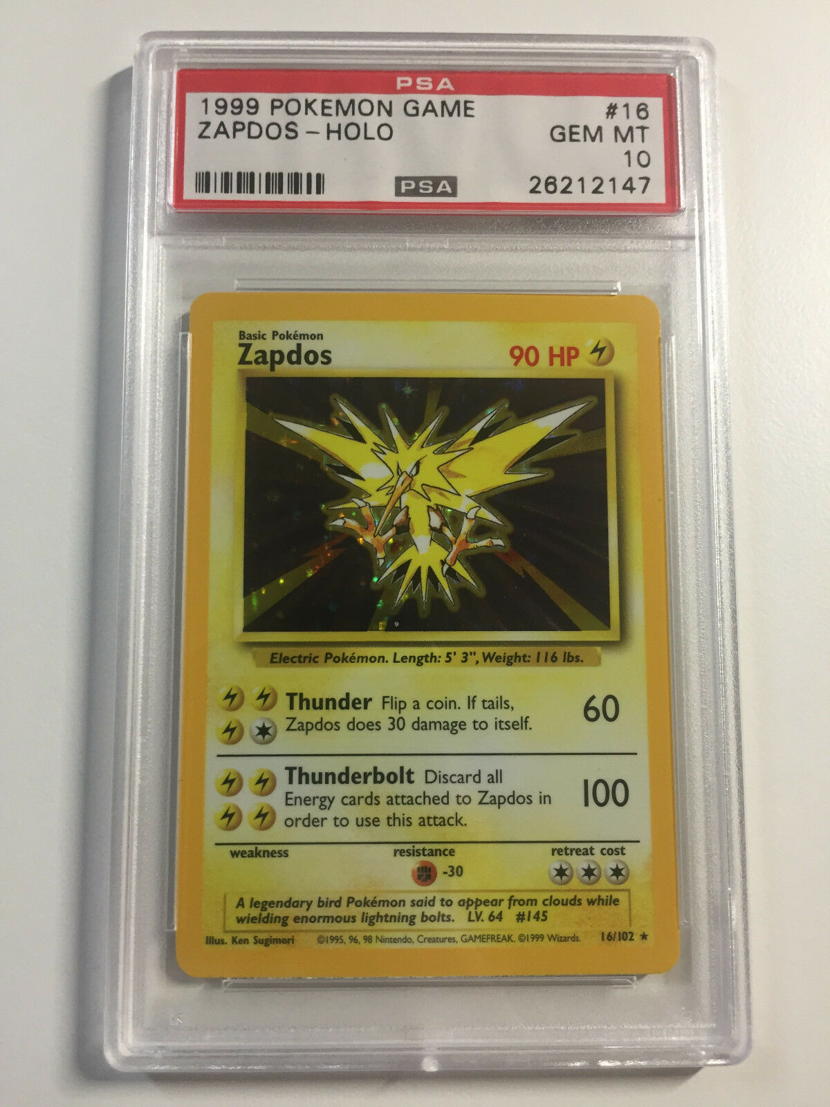 Zapdos - - - PSA 10 Unlimited Base Set - Gem Mint b0c8ab