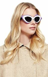 LINDA-FARROW-Prabal-Gurung-Cat-Eye-Black-White-Purple-PG17-Sunglasses