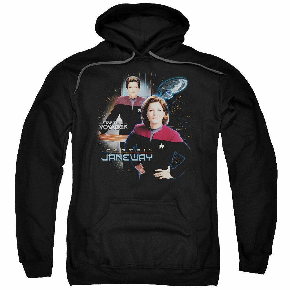 "Star Trek  Voyager ""capitán Janeway"" Sudadera Sudadera Sudadera Con Capucha, Sudadera O Manga Larga Camiseta 1f2e10"