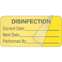 Disinfection Label With Protector 2w X 1h 500 Roll on sale