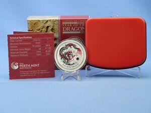 Australien 1 Dollar 2012 Lunar Year of the Dragon WMF Edition 1 oz AG mit OVP