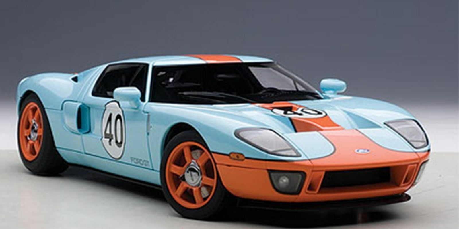 Autoart 2004 FORD GT blueE orange PAINT SCHEME 1 18New Item