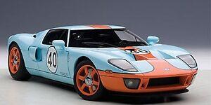 Image Is Loading Autoart  Ford Gt Blue Orange Paint Scheme