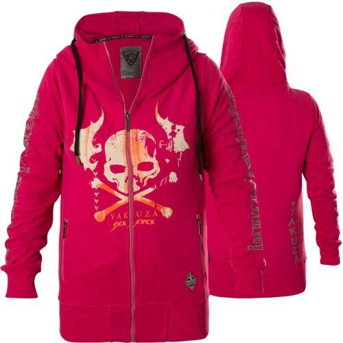 Fucsia fucsia rosa Felpa 13112 cappuccio Damen con Skull Ghzb Flying Yakuza q8Z6HqwxP