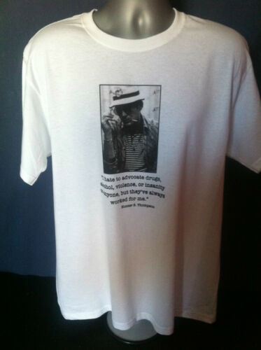 HUNTER S THOMPSON T-SHIRT Gonzo Fear Loathing Vegas Rum Diary Kerouac Ginsberg