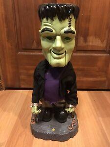Gemmy-2001-Big-Head-DANCING-MONSTER-Frankenstein-Animated-Singing-NEW-in-Box