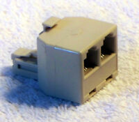 Phone Jack Splitter Rj12 Splitter T Adapter 1 M To 2 F Rj-12 - Cream