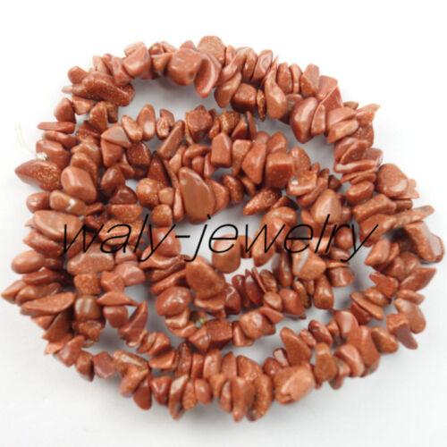 1 soporte único chip de piedra de arena de oro suelto bolas 34 pulgadas 5-10mm QW-11