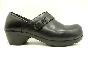 Dansko-Black-Leather-Casual-Slip-On-Clogs-Shoes-Women-039-s-40-9-5-10