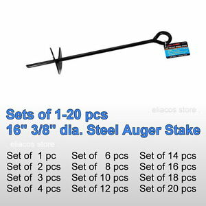 Image is loading 16-034-3-8-034-Steel-Auger-Anchor-  sc 1 st  eBay & 16