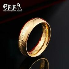 cool  Mens GENUINE Quality 24K gold plating ring - The Lord of the Rings size10