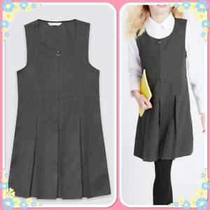 d453b7439 M&S Girls School Pinafore with Permanent Pleats Stain & Weatherproof ...