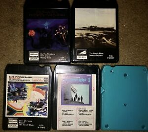 LOT-OF-5-THE-MOODY-BLUES-8-TRACK-TAPES-On-The-Threshold-Of-A-Dream-2-Go-Now-1