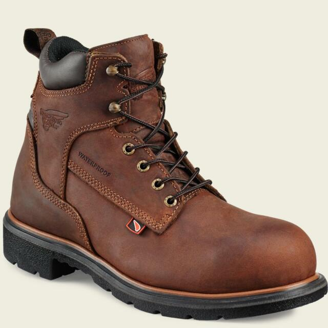 734c84e336b Red Wing 4215 Mens STEEL TOE Brown MADE IN THE USA Waterproof Leather Boots