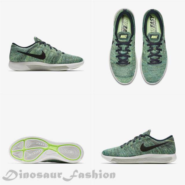 c85d7962fb963 Nike Lunarepic Low Flyknit Mens Running Shoes 10.5 Seaweed Black ...