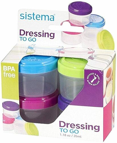 Sistema Dressing Pots To Go Containers 4 x 35 ml