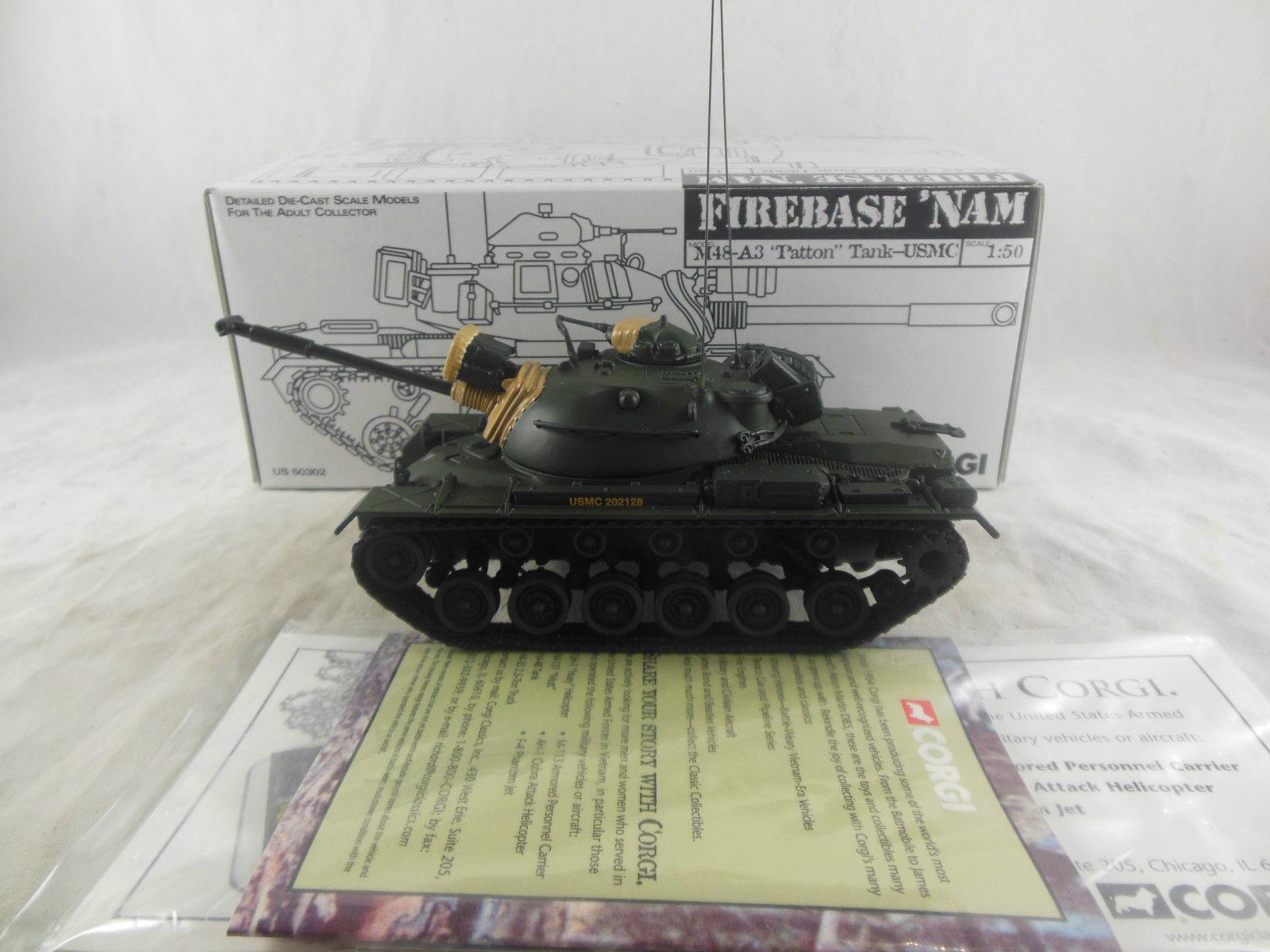 Char   Tank M48-A3 Patton Vietnam - Corgi US50302 1 50e