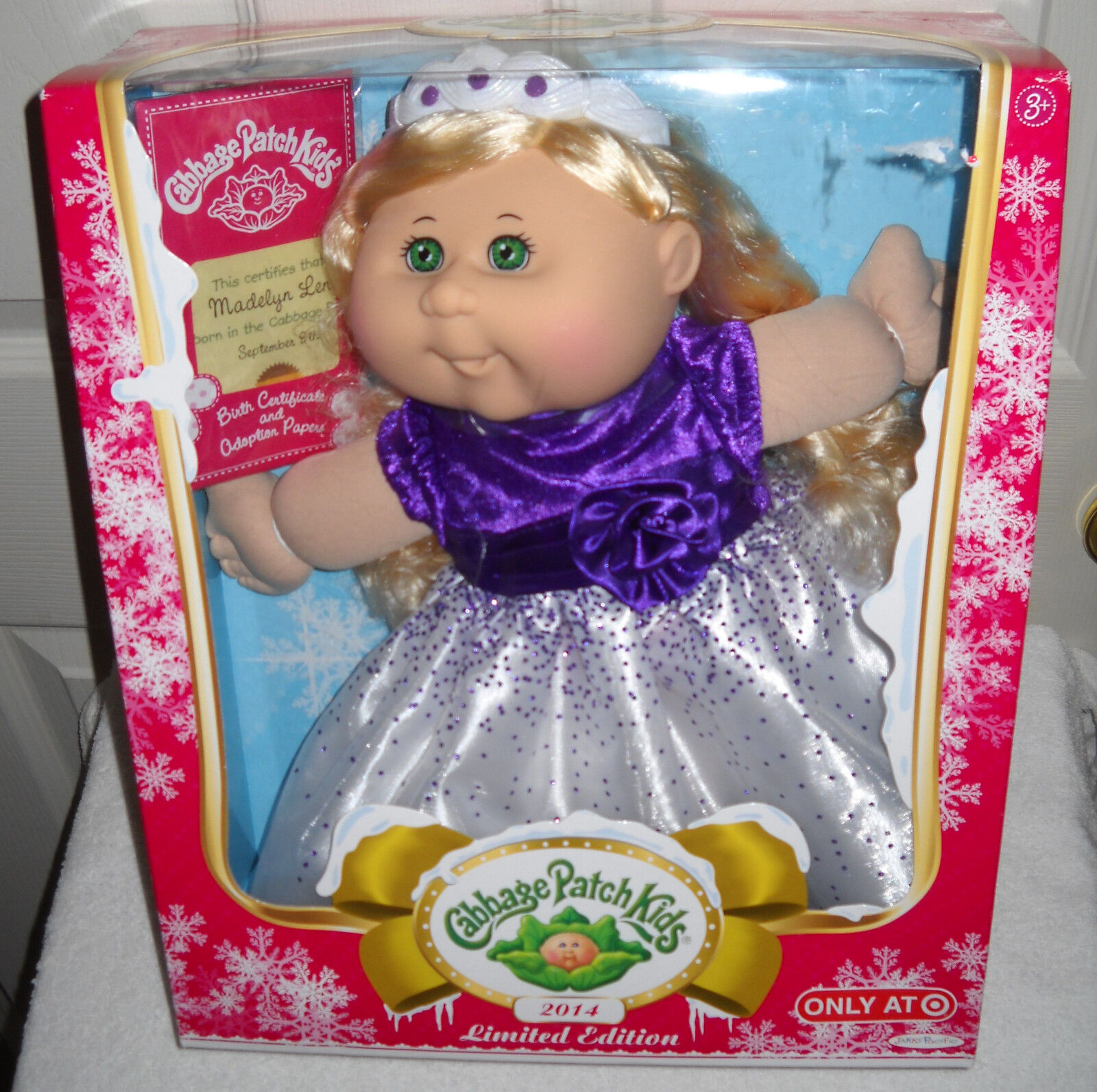Jakks Pacific Target almacena 2014 Cabbage Patch Kids vacaciones Madelyn Leni