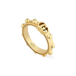 8e9c40f0ea2 RING GUCCI Running G Yellow gold YBC554643001 SIZE N wedding new ...