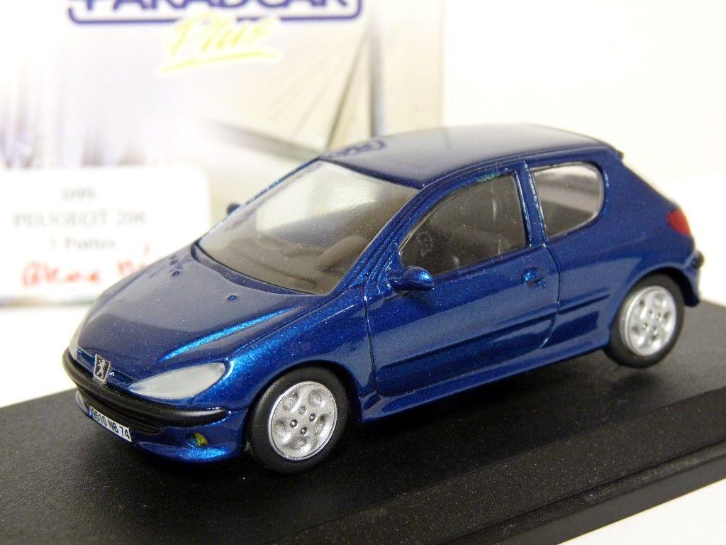 ParadCoche 099 1 43 Peugeot 206 Coche Modelo de Resina Hecho a Mano