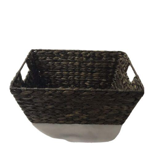 Ashland Natural Wicker Storage Basket Wire Top With Handles Brown 9X13x6