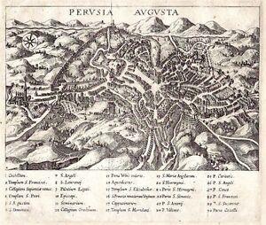 Antique map, Perusia Augusta