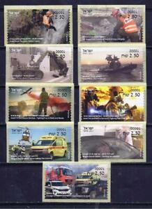 ISRAEL STAMPS 2021 EMERGENCY & RESCUE ORGANIZATIONS FULL SET ATM MACHINE LABEL