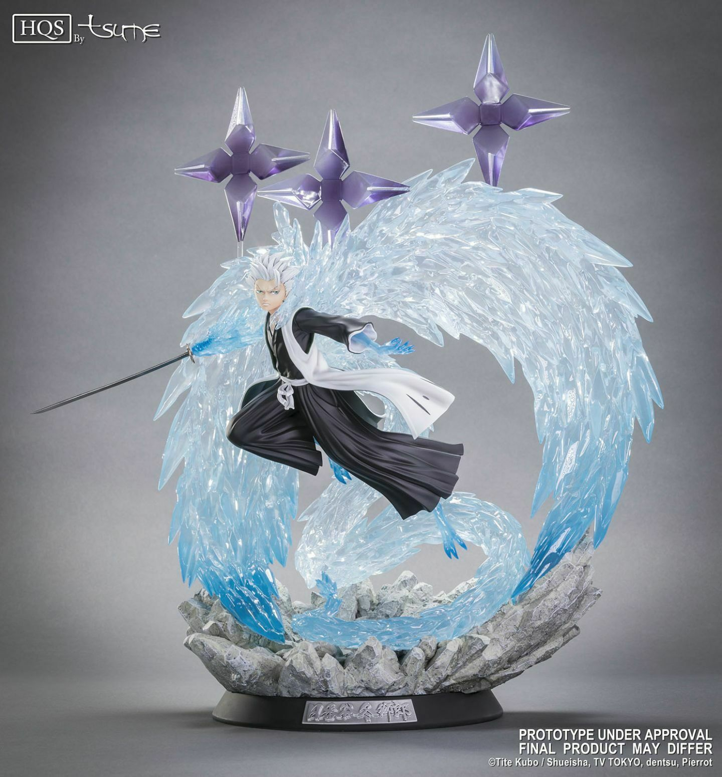 TSUME HQS HIGH QUALITY STATUE BLEACH HITSUGAYA TOSHIRO 1000 PCS WORLDWIDE NUOVO
