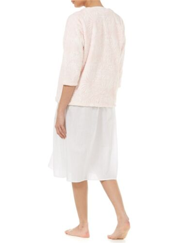 Supersoft Coral Fleece Round Neck Button Front Bed Jacket By Slenderella