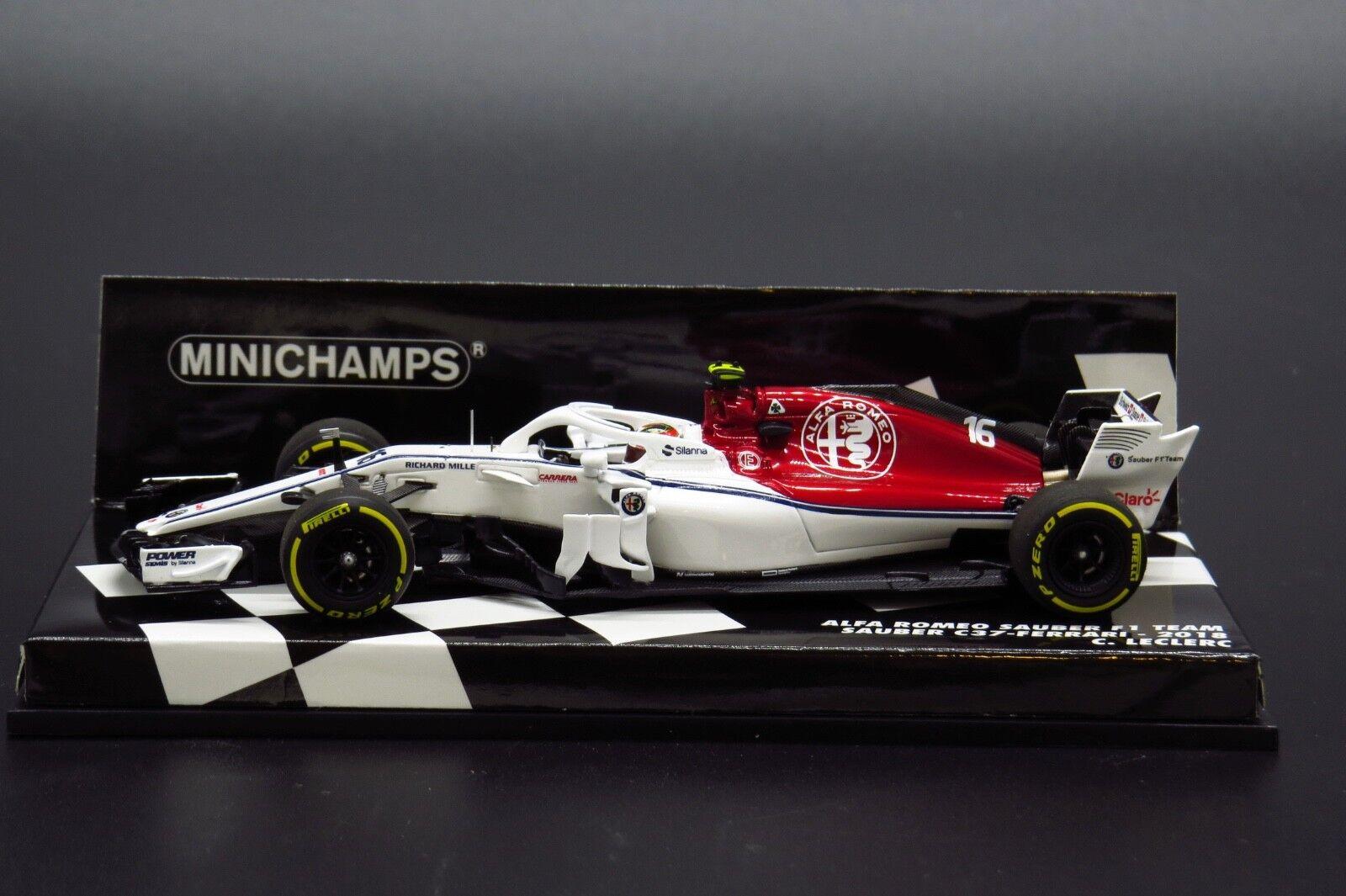 Minichamps 417180016 1 43 2018 Alfa Romeo Sauber C37 - Ferrari Charles Leclerc