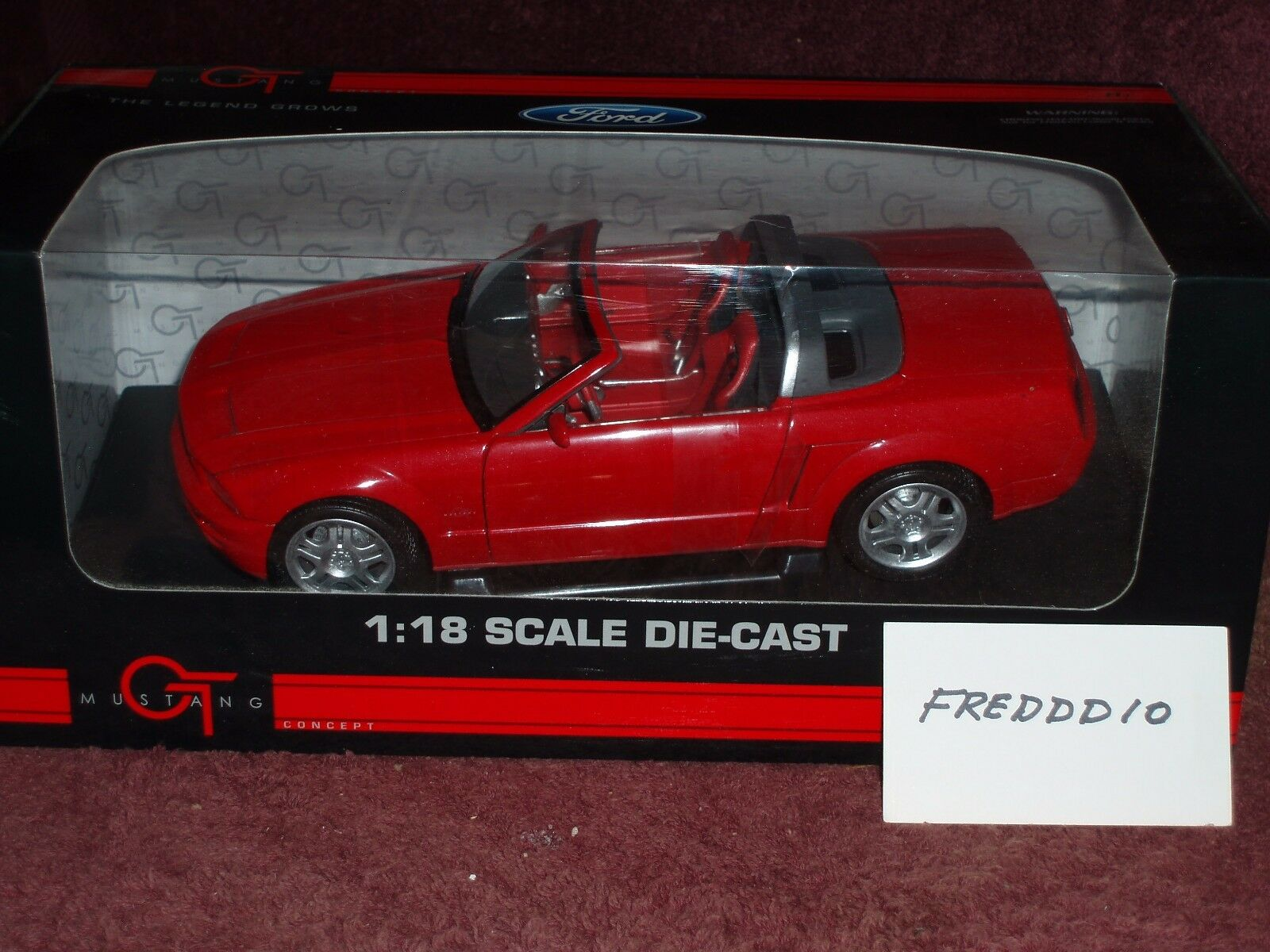 2004 05 FORD MUSTANG CONCEPT CONgreenIBLE CONgreenIBLE CONgreenIBLE RED 1 18 NICE CAR   f27e87