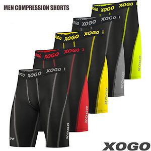 XOGO-New-Mens-Compression-Shorts-Base-Layer-Briefs-Pants-Running-Gym-Fitness