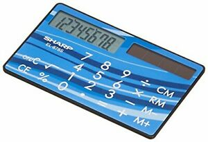 Sharp Calculator EL-878S-X card, credit card type F/S w/Tracking# New from Japan