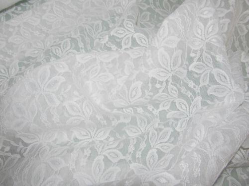 54 inch /& 40 inch Wide White-Ivory-Beige-Cerise Stretch /& Non Stretch Lace