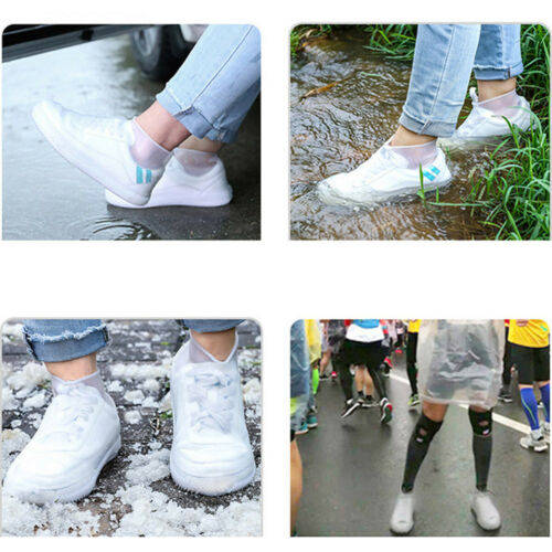 Reusable Waterproof Shoes Cover Silicone Foldable Rain Boots Non-slip Shoe Cover