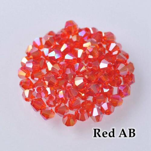DIY 3mm Bicone Faceted Crystal Glass Loose Spacer Beads Jewelry Making