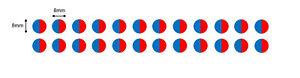 24 rouge et bleu demi-lune TAP/Robinet Température Vinyle Autocollants, Décalcomanies, Dots