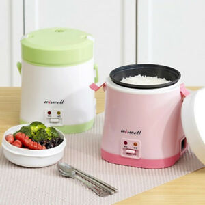 Wiswell Electric Mini Rice Cooker Portable Therml Lunch Box Banto Rapid Cooking