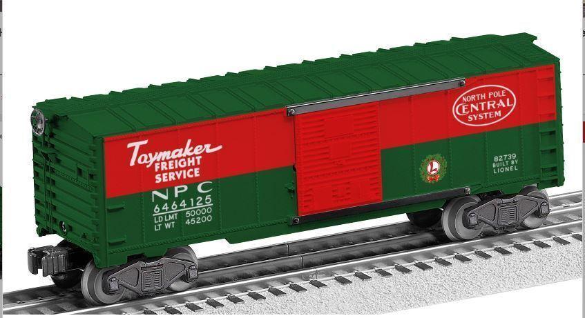 Lionel 6 -82739 O Nordpolen Central Steel 3 -järnväg lådabil NIB