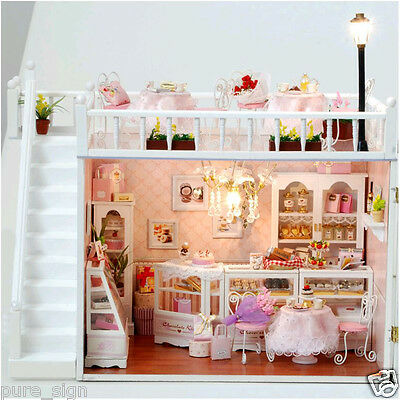DIY Handcraft Miniature Project Kit Dolls House The Chocolatiers Cafe Shop