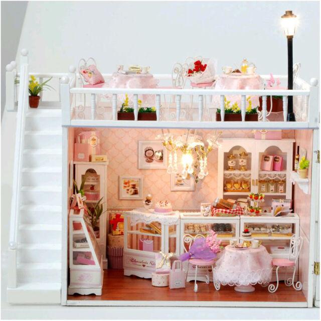 DIY Handcraft Miniature Project Kit Dolls House The Chocolatiers Cafe Shop