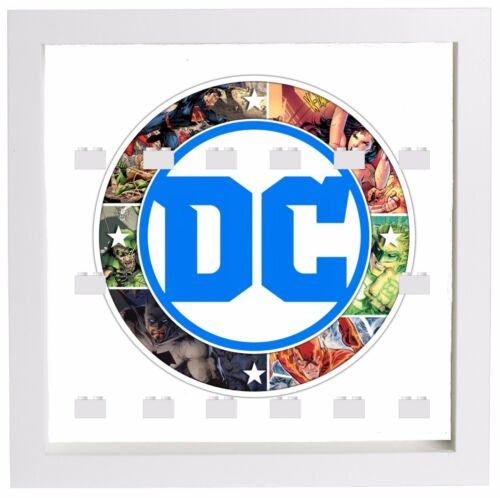 Lego Minifigure Display Case Frame DC Comics superheroes minifigs