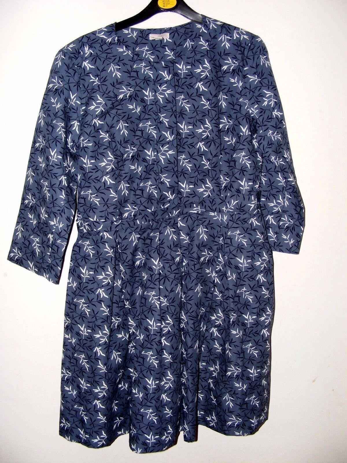Nuovo con Etichetta Vintage Gap Abito Grigio Azzurro Motivo Taglia Us 6