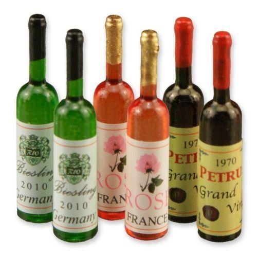 Reutter porzellan des bouteilles set//wine bottle set poupée 1.756//8 1:12