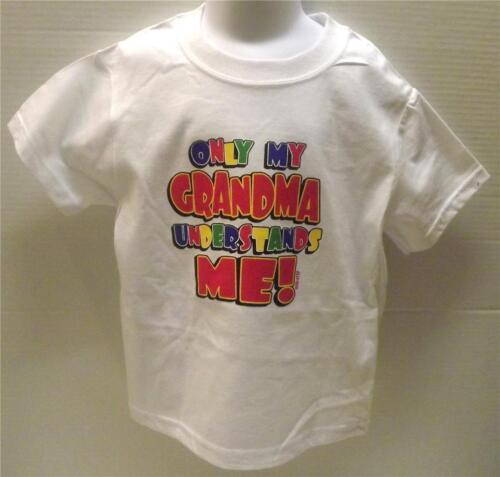 Only Grandma Understands Me Tee Asst Colors sizes 6 Months to Large 14-16