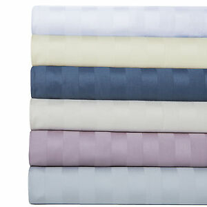 100 Percent Cotton 600 Thread Count Damask Striped Sheet