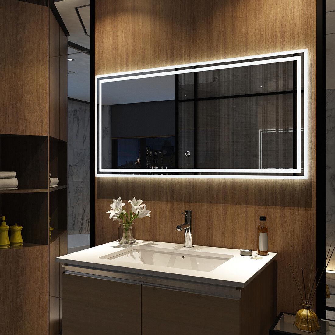 Touch Wandspiegel Badezimmerspiegel Licht Beleuchtung mit ...